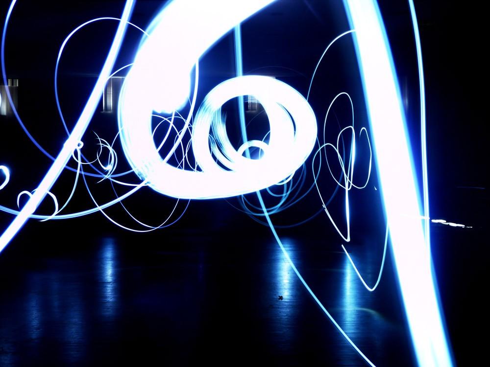 Lightpainting - Zeichnen mit Licht - Schülerarbeit