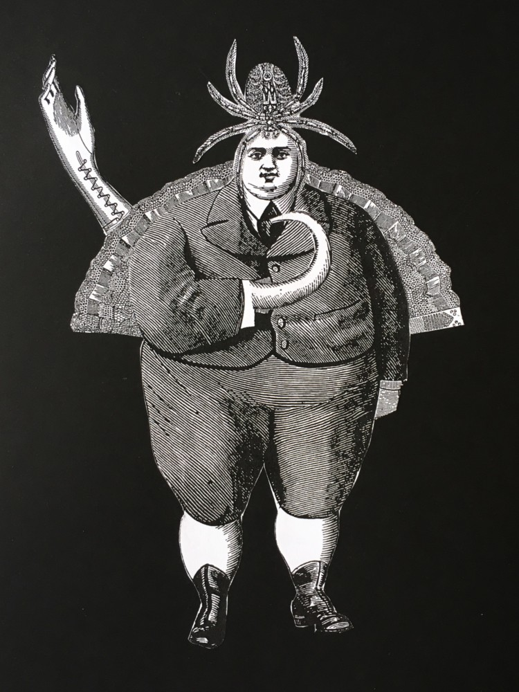 Surreale Collagen nach Max Ernst - Schülerarbeit - Ergebnis