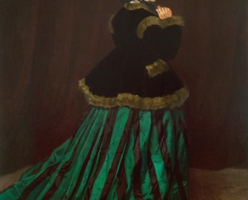 Claude Monet / Camille im grünen Kleid / 1866