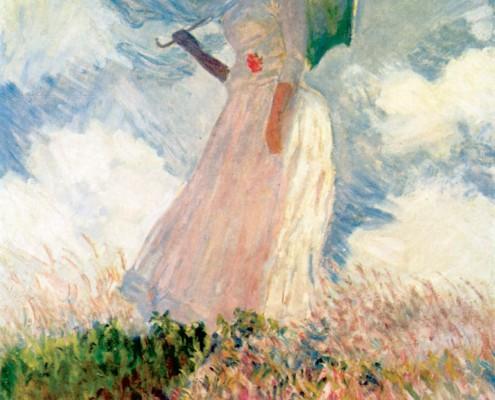Claude Monet / Frau mit Sonnenschirm / 1886