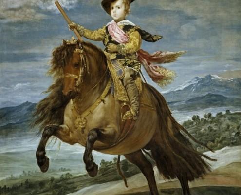 Diego Velázquez / Porträt des Prinzen Balthasar Carlos zu Pferd / 1635