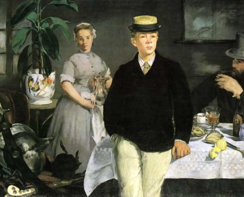Édouard Manet / Das Frühstück im Atelier / 1868