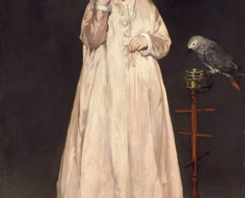 Édouard Manet / Junge Dame mit Papagei / 1866