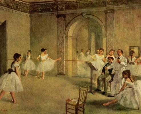 Edgar Degas / Ballettsaal der Oper in der Rue Peletier / 1872