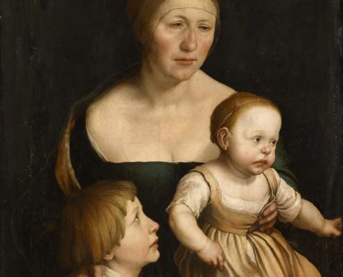 Hans Holbein der Jüngere / Die Familie des Künstlers / 1528