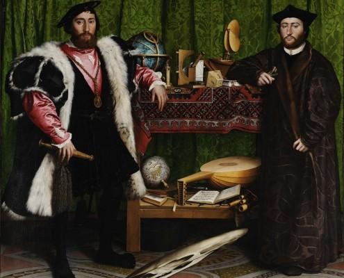 Hans Holbein der Jüngere / Jean de Dinteville und Georges de Selve (Die Gesandten) / 1533