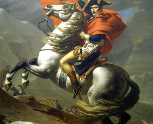 Jacques-Louis David / Bonaparte beim Überschreiten der Alpen am Großen Sankt Bernhard / 1801