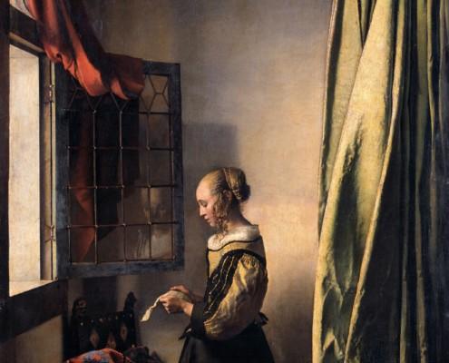 Jan Vermeer van Delft, auch genannt Johannes Vermeer / Briefleserin am offenen Fenster / 1657