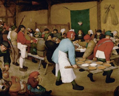 Pieter Bruegel der Ältere / Die Bauernhochzeit / 1566-1567