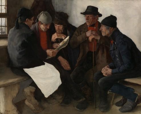 Wilhelm Maria Hubertus Leibl / Die Dorfpolitiker / 1877