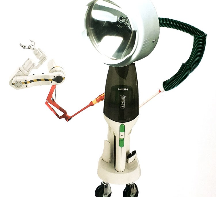 THE ROBOTS ARE COMING - Roboter-Collagen im Kunstunterricht - Schülerarbeit Endergebnis
