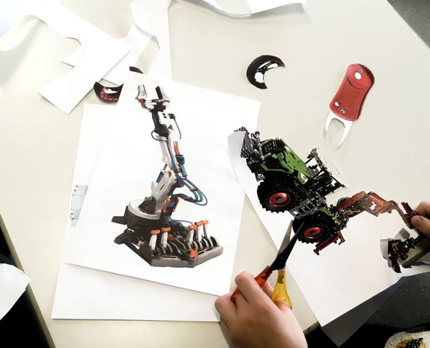 THE ROBOTS ARE COMING - Roboter-Collagen im Kunstunterricht - Ausschnitt