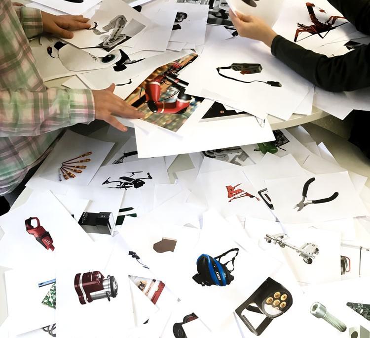 THE ROBOTS ARE COMING - Roboter-Collagen im Kunstunterricht - Bildauswahl