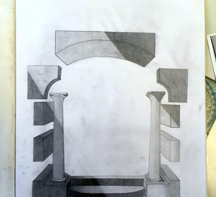 """SCHWEBEN WIE GALA DALÌ SURREALE BILDWELTEN IM STILE SALVADOR DALÌS """"DIE MADONNA VON PORT LLIGAT"""" - Zeichnung Altar"""