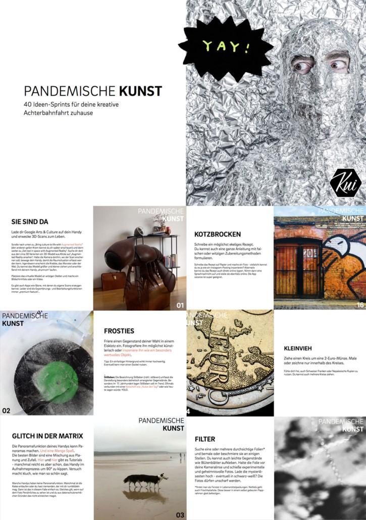 Pandemische Kunst - Sekundarstufe - Aufgaben für den Kunstunterricht im Homeschooling und Fernlernunterricht