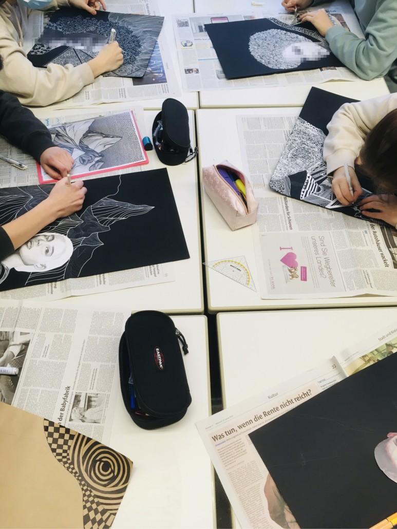 Zentangle-Porträts // Porträts im Wandel der Zeit
